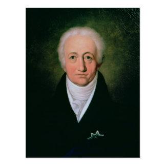 Portrait of Johann Wolfgang von Goethe , 1818 Postcard