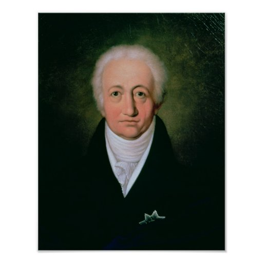 Portrait of Johann Wolfgang von Goethe , 1818 Print