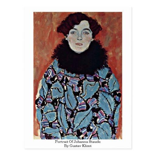 Portrait Of Johanna Staude By Gustav Klimt Post Cards