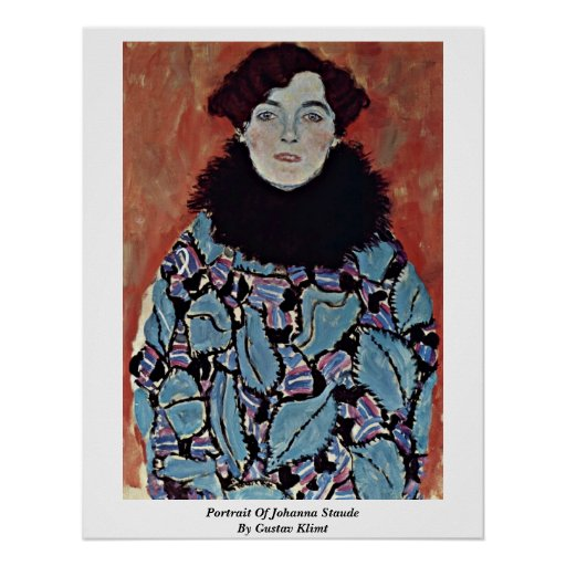 Portrait Of Johanna Staude By Gustav Klimt Print