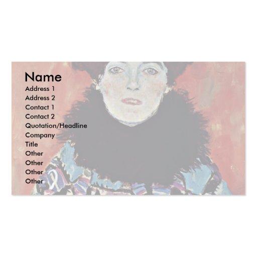 Portrait Of Johanna Staude By Klimt Gustav Business Card