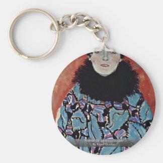 Portrait Of Johanna Staude By Klimt Gustav Key Chain