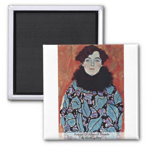 Portrait Of Johanna Staude By Klimt Gustav Magnet