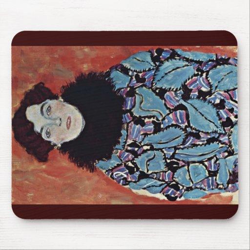 Portrait Of Johanna Staude By Klimt Gustav Mouse Pad