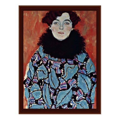 Portrait Of Johanna Staude By Klimt Gustav Post Cards