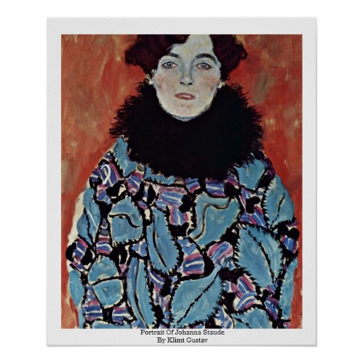 Portrait Of Johanna Staude By Klimt Gustav Poster