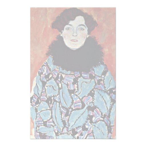 Portrait Of Johanna Staude By Klimt Gustav Stationery Design