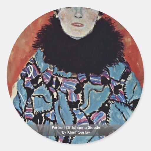 Portrait Of Johanna Staude By Klimt Gustav Sticker