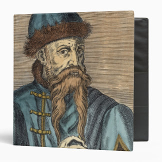 Portrait of Johannes Gutenberg 2 3 Ring Binder