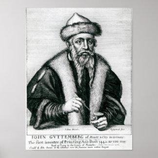 Portrait of Johannes Gutenberg 2 Print