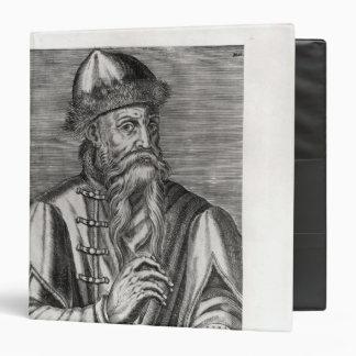 Portrait of Johannes Gutenberg Binder