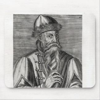Portrait of Johannes Gutenberg Mouse Pad