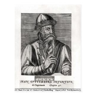 Portrait of Johannes Gutenberg Postcard