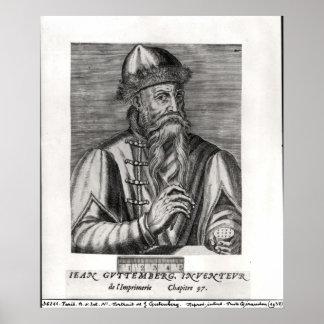 Portrait of Johannes Gutenberg Poster