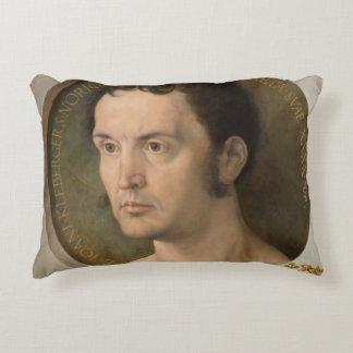 Portrait of Johannes Kleberger by Durer Accent Pillow