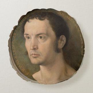 Portrait of Johannes Kleberger by Durer Round Pillow
