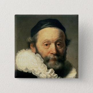Portrait of Johannes Uyttenbogaert Pinback Button
