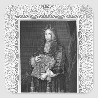 Portrait of John, 1st Lord Somers Square Sticker