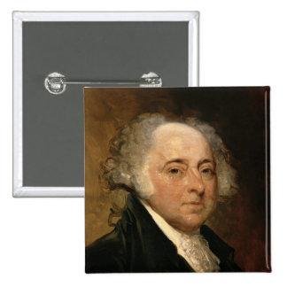 Portrait of John Adams 2 Inch Square Button