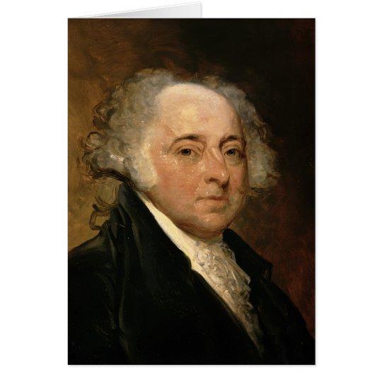 Portrait of John Adams Card