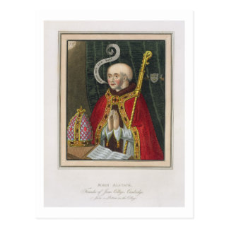 Portrait of John Alcock (c. 1430-1500), Founder of Postcard