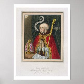 Portrait of John Alcock (c. 1430-1500), Founder of Poster