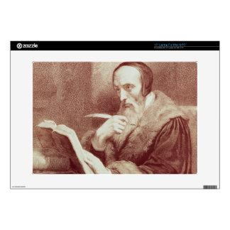 Portrait of John Calvin (1509-1564) (engraving) Decal For Laptop