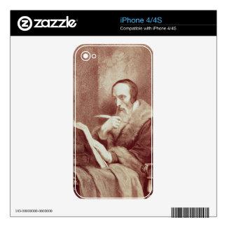 Portrait of John Calvin (1509-1564) (engraving) iPhone 4 Decal