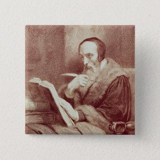 Portrait of John Calvin (1509-1564) (engraving) Pinback Button