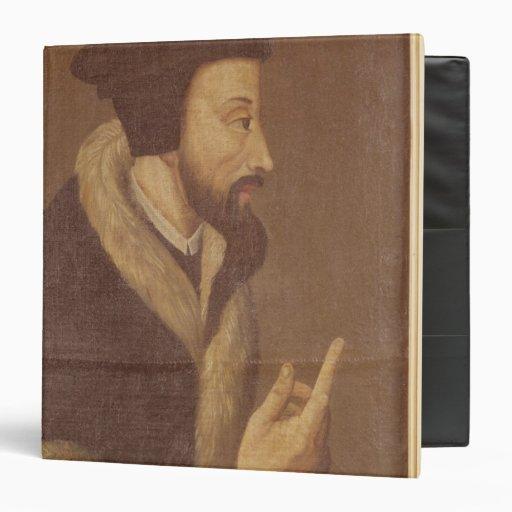 Portrait of John Calvin 3 Ring Binders