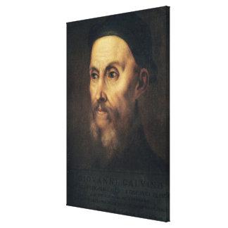 Portrait of John Calvin Canvas Print