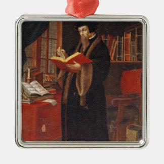 Portrait of John Calvin Metal Ornament