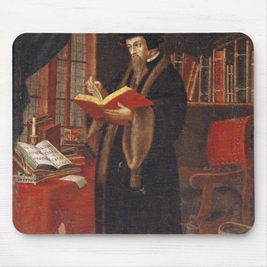 Portrait of John Calvin Mouse Pad