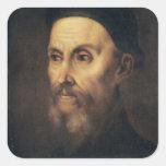 Portrait of John Calvin Square Sticker