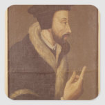 Portrait of John Calvin Stickers
