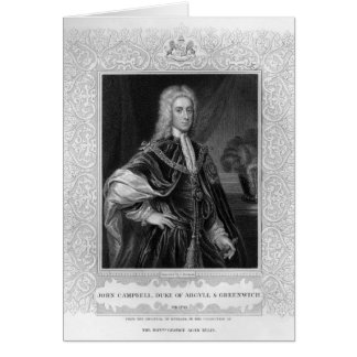 Portrait of John Campbell Greeting Card