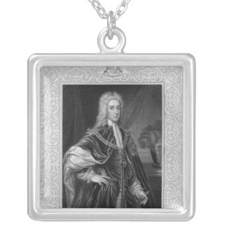Portrait of John Campbell Silver Plated Necklace