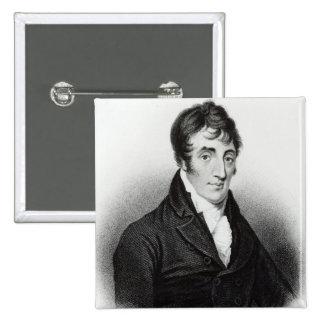 Portrait of John Clare 2 Inch Square Button