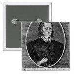 Portrait of John Donne 2 Inch Square Button