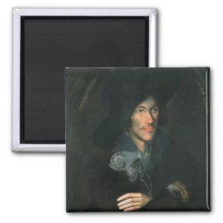 Portrait of John Donne, c.1595 2 Inch Square Magnet