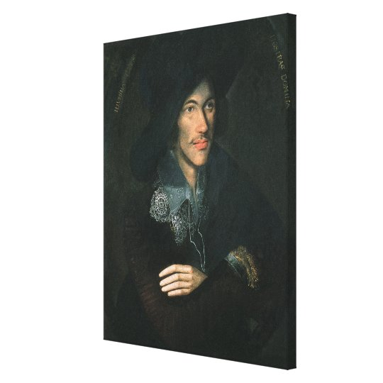 Portrait of John Donne, c.1595 Canvas Print
