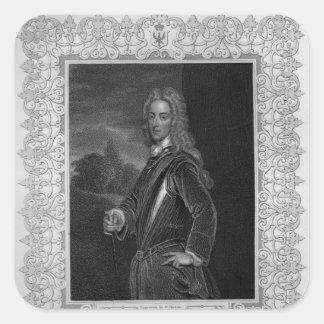 Portrait of John Duke of Montagu Square Sticker