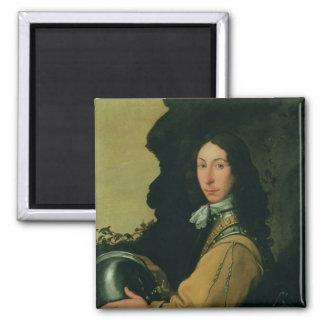 Portrait of John Evelyn 2 Inch Square Magnet