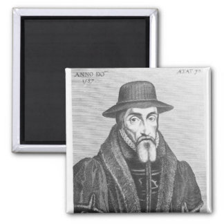 Portrait of John Foxe  English martyrologist Magnet