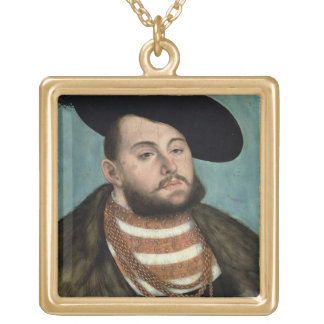 Portrait of John Frederick the Magnanimous (1503-5 Gold Plated Necklace
