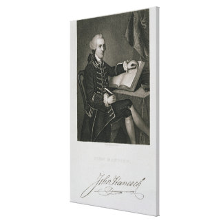 Portrait of John Hancock, engraved by John B. Forr Canvas Print
