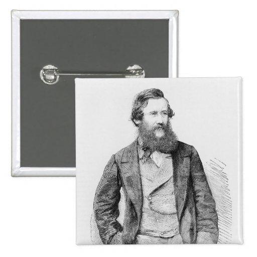 Portrait of John Hanning Speke Pinback Button
