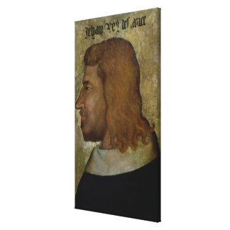 Portrait of John II,'the Good'  King of France Canvas Print