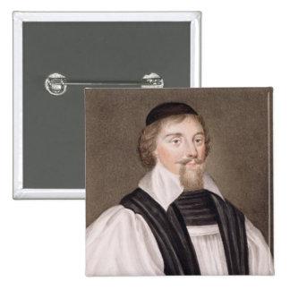 Portrait of John Jewel (1522-71) Bishop of Salisbu Button