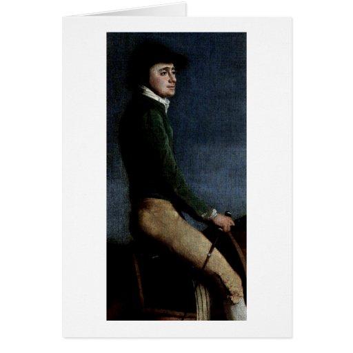 Portrait Of John Larkin Detail By George Stubbs Greeting Card